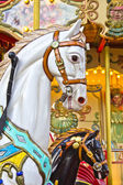 Horses on a Merry Go Round — Stock Photo