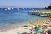 Praia em antibes, sul da frança — Foto Stock