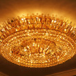 Luxury crystal chandelier - Stock Photo