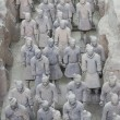 Terra cotta warriors excavation — Stock Photo