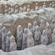 Terracotta warriors excavation — Stock Photo