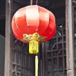 Chinese lamp in a window — Stock Photo #8679610