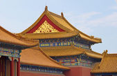 Tile roofs in the Forbidden City — Stock Photo