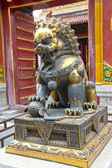 Lion statue in the Forbidden City, China — Foto de Stock