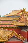 Traditional roofs in Beijing's Forbidden City — Stock Photo