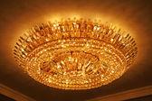 Luxury crystal chandelier — Stock Photo