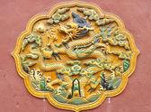 Dragon sculptuur in de verboden stad, peking — Stockfoto