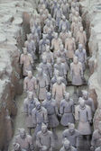 Terra cotta warriors excavation — Foto de Stock