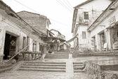 Fakir bir köy evlerinde — Stok fotoğraf