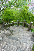 Spiral stairs in a park — Stock Photo