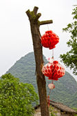 Chinese decoration in a rural area — Stock Photo