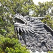 Dragon detail on the roof in Yuyuan Garden - Stock Photo