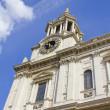 Stockfoto: Clock tower in St Pauls Cathedral, London