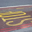 Stop sign painted on road — 图库照片 #8680818