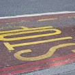 Foto de Stock  : Stop sign painted on road