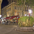 Night view of Aix-en-Provence, south of France - Foto Stock