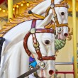 Vintage carousel or merry-go-round — Stock Photo