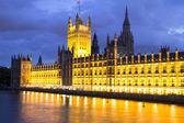 Parliament at night, London, England — Stock Photo