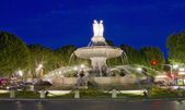 La Rotonde fountain, center of Aix-en-Provence, south of France — Stock Photo