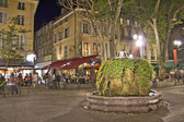 Night view of Aix-en-Provence, south of France — Stock Photo