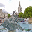 Fountain in the Trafalgar Square — Stock Photo
