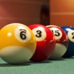 Snooker balls — Stock Photo
