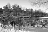 Amsterdam during the winter — Stock Photo