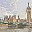 Westminster Bridge with Big Ben, London, UK — Stock Photo
