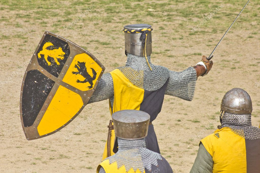 Medieval warriors — Stock Photo #9930877