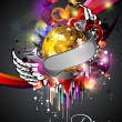 Royalty-Free Stock Vector Image: Illustration on a musical theme colourful lights abstract backgr