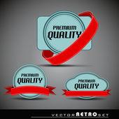 Retro blue label set — Stock Vector