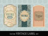 Retro Label, Bookmarks, Tags for Stickers. EPS10, Vector Illust — Stock Vector