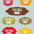 Set of elegant but simple colorful RETRO labels - easy editable. EPS10 vector. — ベクター素材ストック