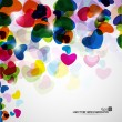 Abstract background with colorful hearts and love vector illustr — Stock Vector #10029383