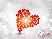красный блеск сердца. — Cтоковый вектор