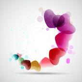 Абстрактный фон с красочные сердца и любовь вектора illustr — Cтоковый вектор
