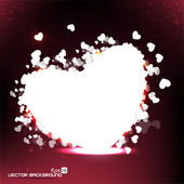 Vector illustration a heart on abstract background eps10. — Stock Vector