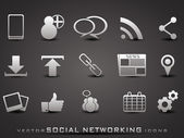 Vector social networking icons — Stock Vector