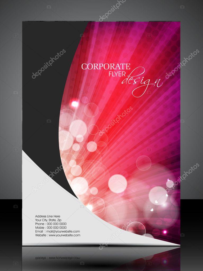 Professional Corporate Flyer Design Presentation editable vecto – Professional Corporate Flyer