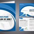 Vector de stock : Professional business catalog template or corporate brochure des