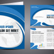 Stock vektor: Professional business catalog template or corporate brochure des