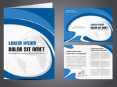 Professional business catalog template or corporate brochure des — 图库矢量图片