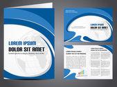 Profesyonel iş katalog şablonu veya kurumsal broşür des — Stok Vektör