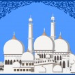 Abstract Illustration of Mosque on  abstract background with flo — Imagen vectorial