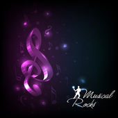 Abstract musical notes with shiny background. vector. — Stock Vector