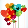 Abstract shiny heart. - Imagens vectoriais em stock
