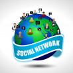 Social media network connection. EPS10, vector illustration. — Stock Vector #10218138