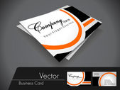 Black and orange vector business card,For more bsiness card of t — Stok Vektör