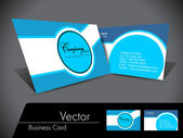 Simple abstact Vector Business Card,For more bsiness card of thi — Stock Vector