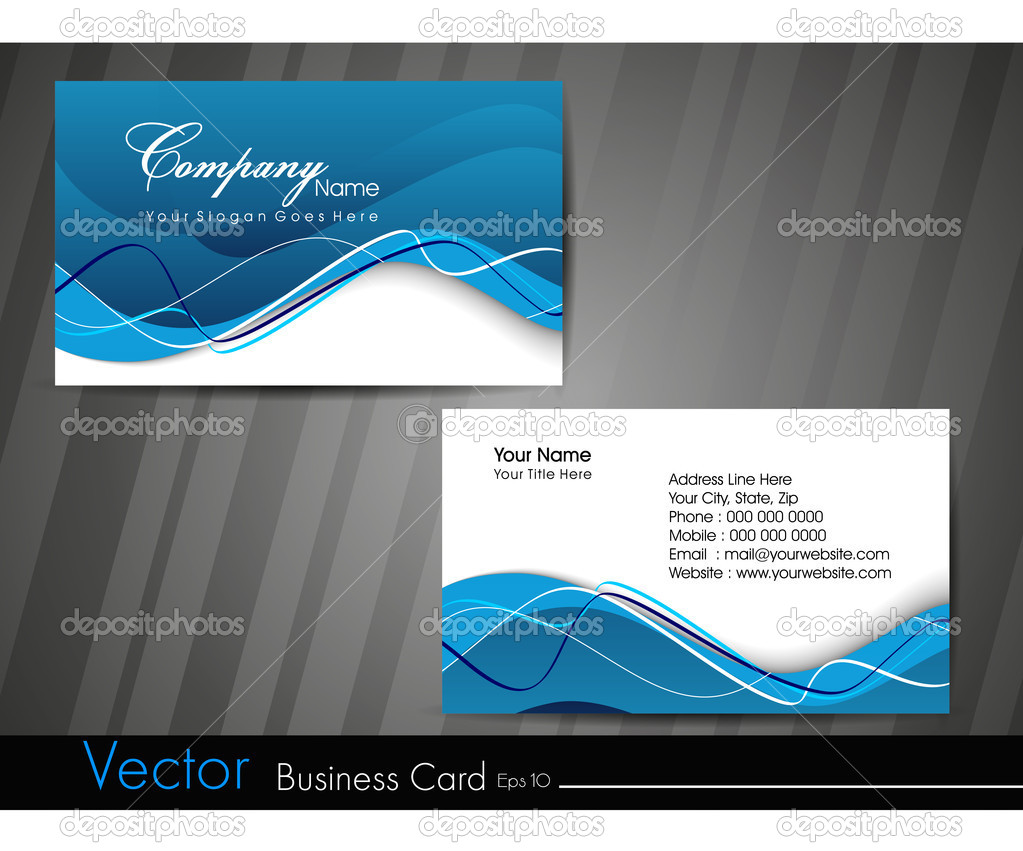 Business card template or visiting card set eps 10 for Eps business card template